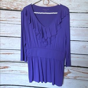 Coldwater creek Ruffled Jersey Top